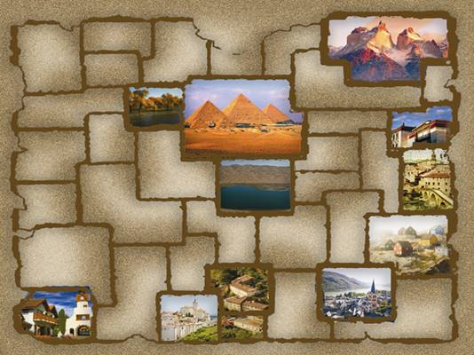 沙漠藏宝图卡通图片